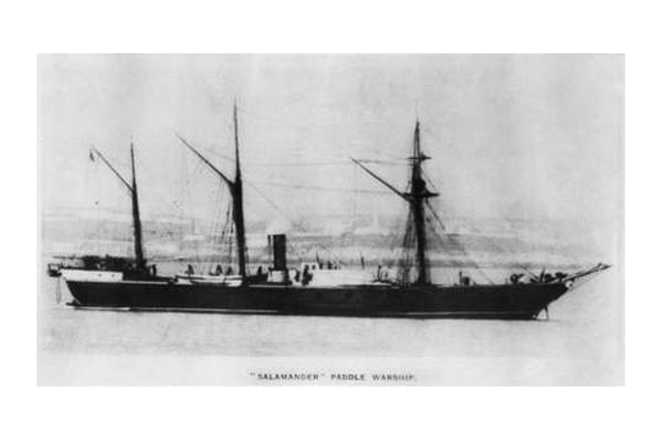 HMS Salamander. Click to enlarge.