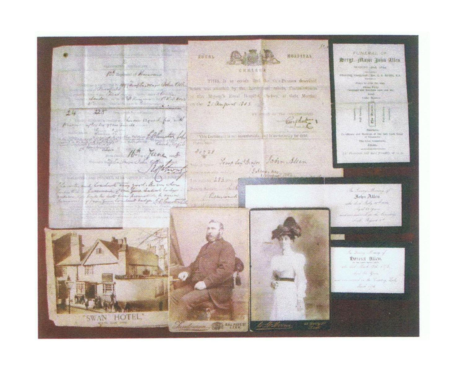 Items relating to John Allen, 13th Light Dragoons, auctioned in 2013. Click to enlarge.