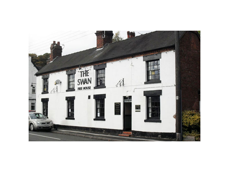 The Swan Hotel, photographed in 2010. John Allen was the landlord from 1887 to his death in 1894. Click to enlarge.