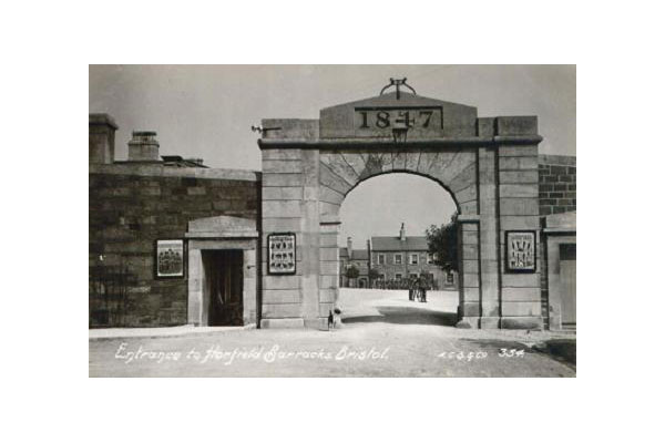Entrance to Horfield Barracks, Bristol. Click to enlarge.