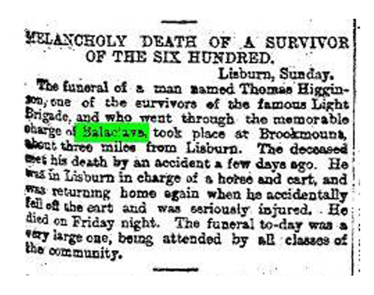 Notice of Thomas Higginson's death