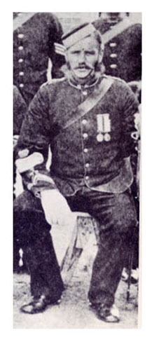 Photograph of Sergeant-Major Joseph Francis [Lane] taken in Fort Walsh 1879. Click to enlarge.
