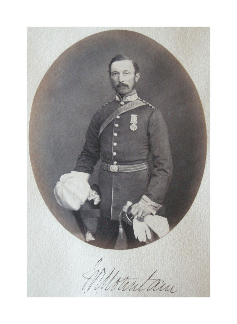 Portrait of John Kirkby Mountain, Inniskilling Dragoons (1858). Click to enlarge.