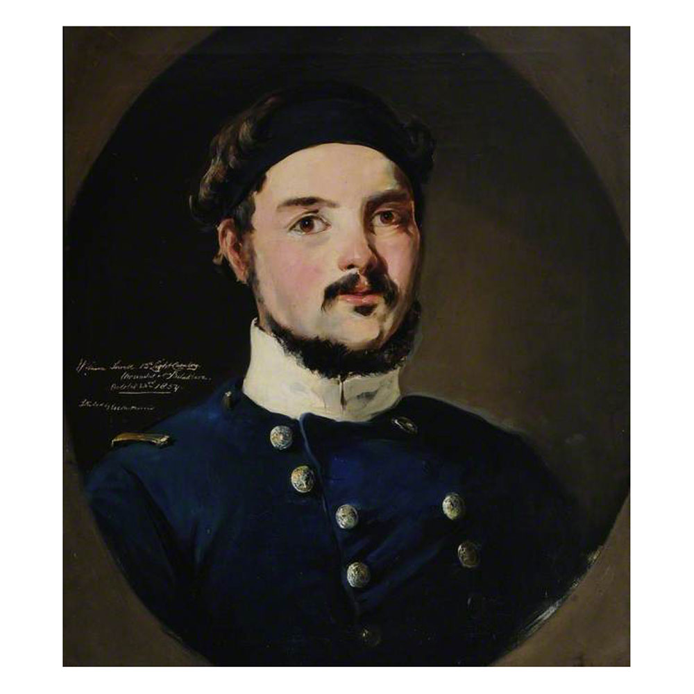 Portrait of William Sewell, 13th Light Dragoons by J. Kitodily Williams, painted c.1855. Click to enlarge.